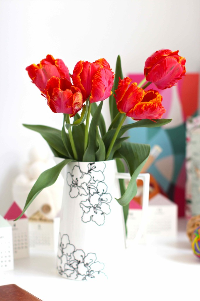 tulips in a vase
