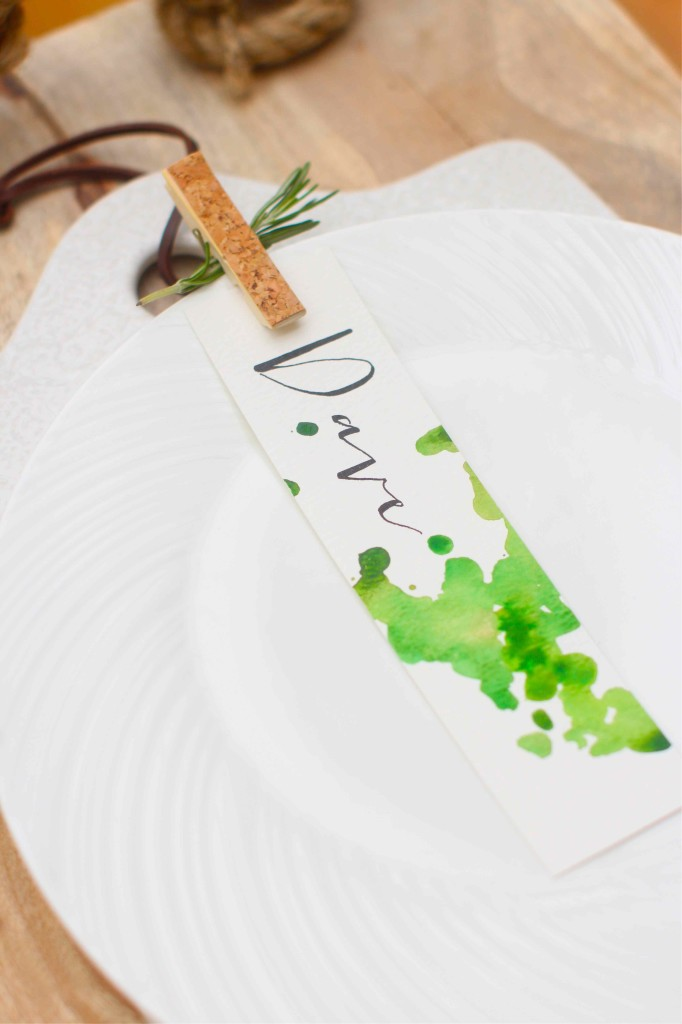 Watercolour place settings