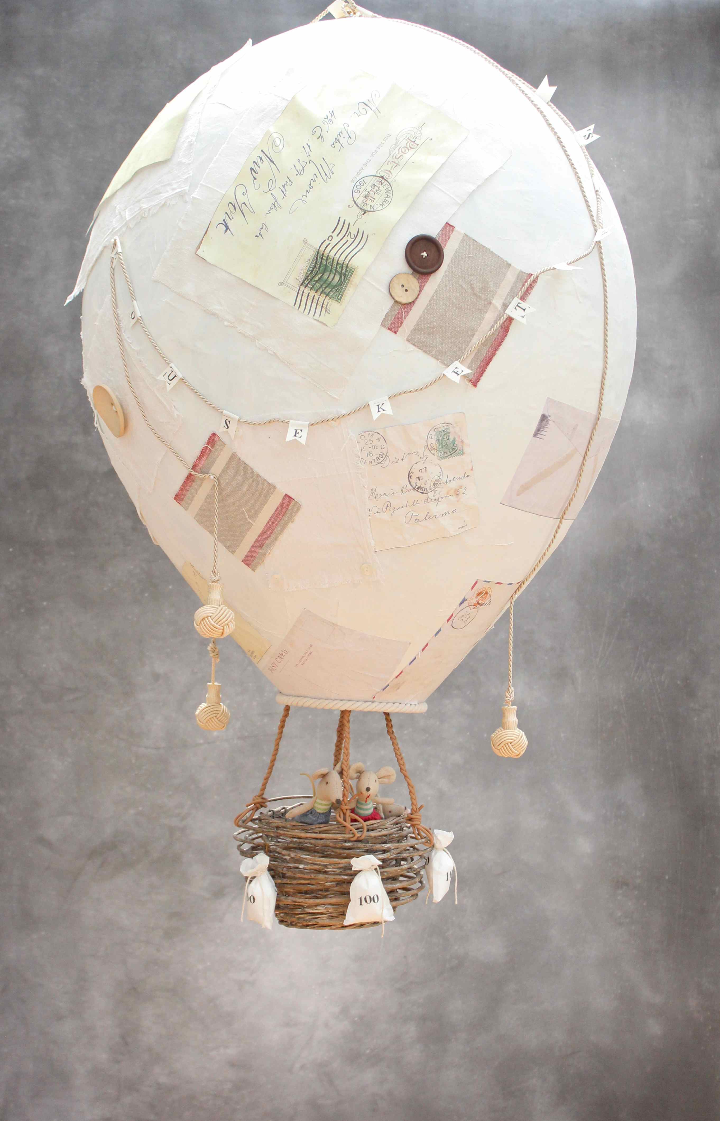 allez les mouseketeers or how to make a giant papier m ch hot air balloon. Black Bedroom Furniture Sets. Home Design Ideas