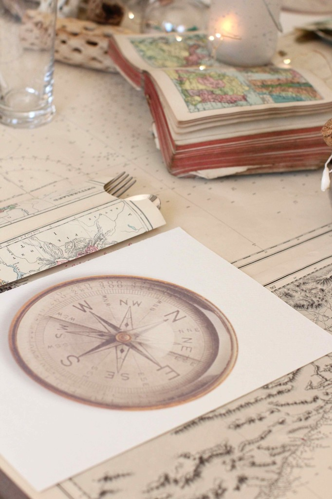 DIY Map placemats