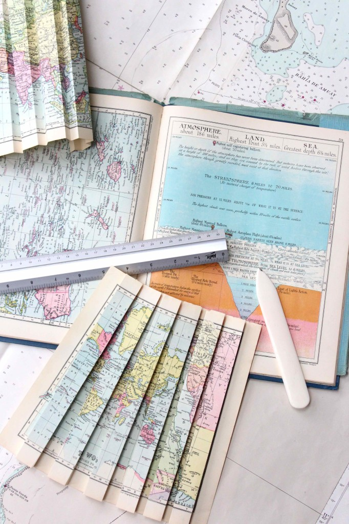 Dress making with vintage maps