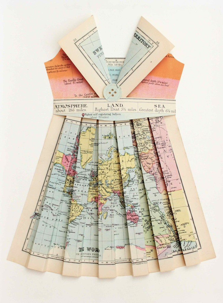 Paper Dress made from maps