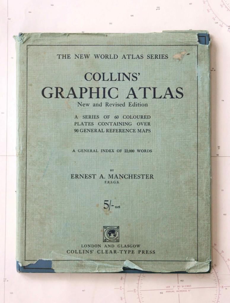 Vintage map book