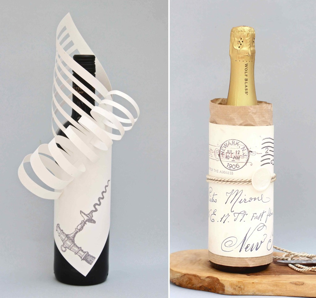 Two fun wine bottle styling ideas