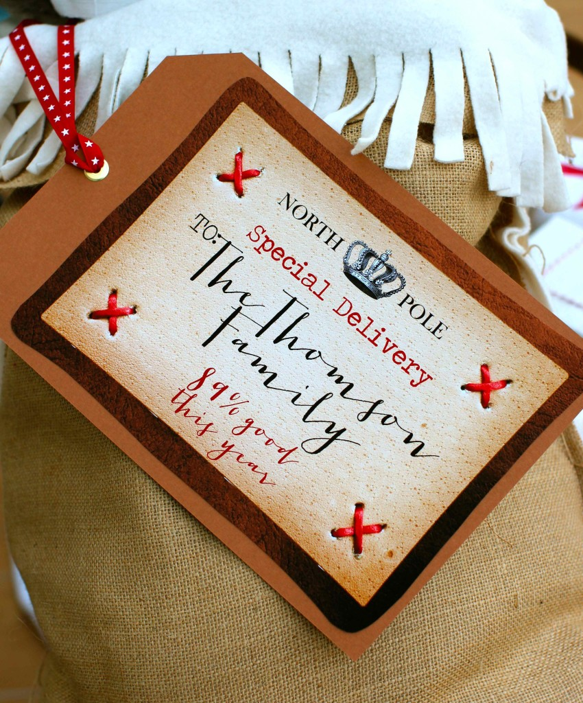 Personalised North Pole Gift tags