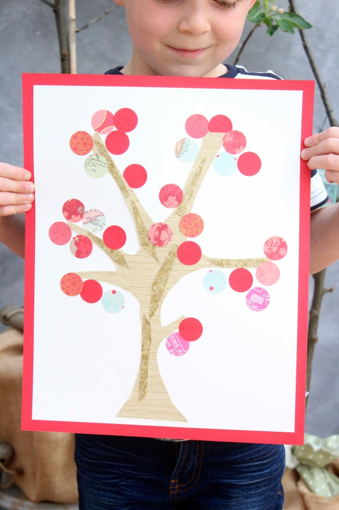 Apple tree collage