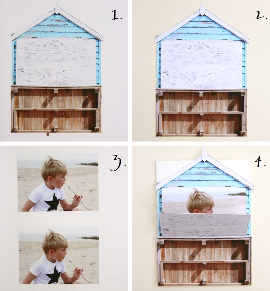 Beach hut card DIY