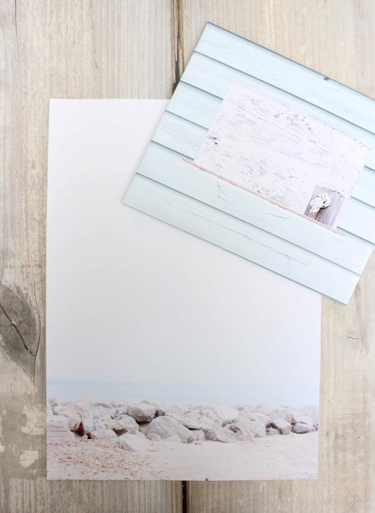DIY Writing Paper from family photos