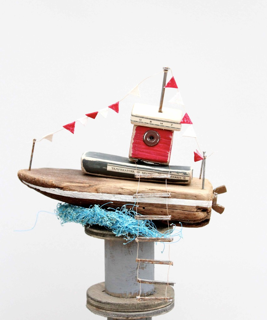 DIY Driftwood fishing boats