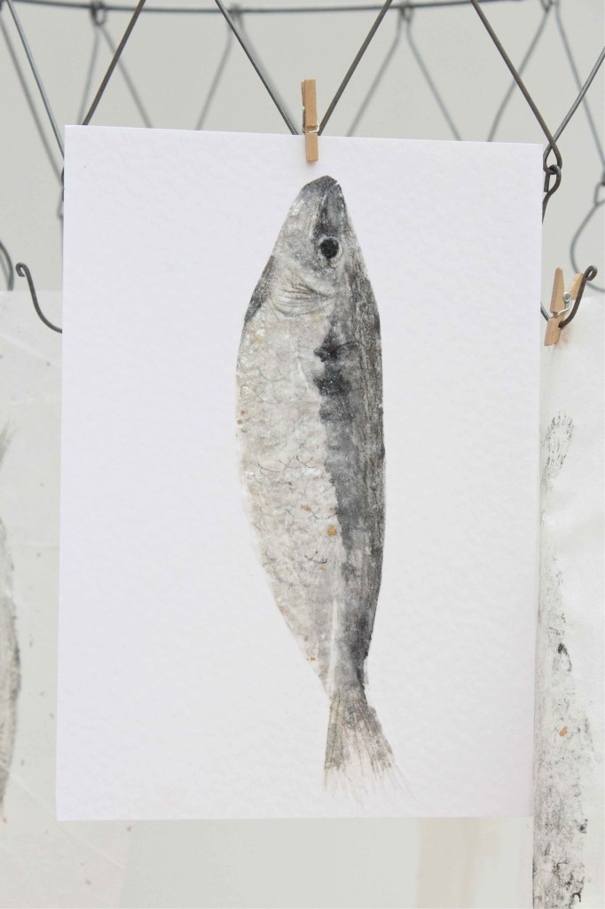 Gyotaku printing project - make beautiful prints of fish!