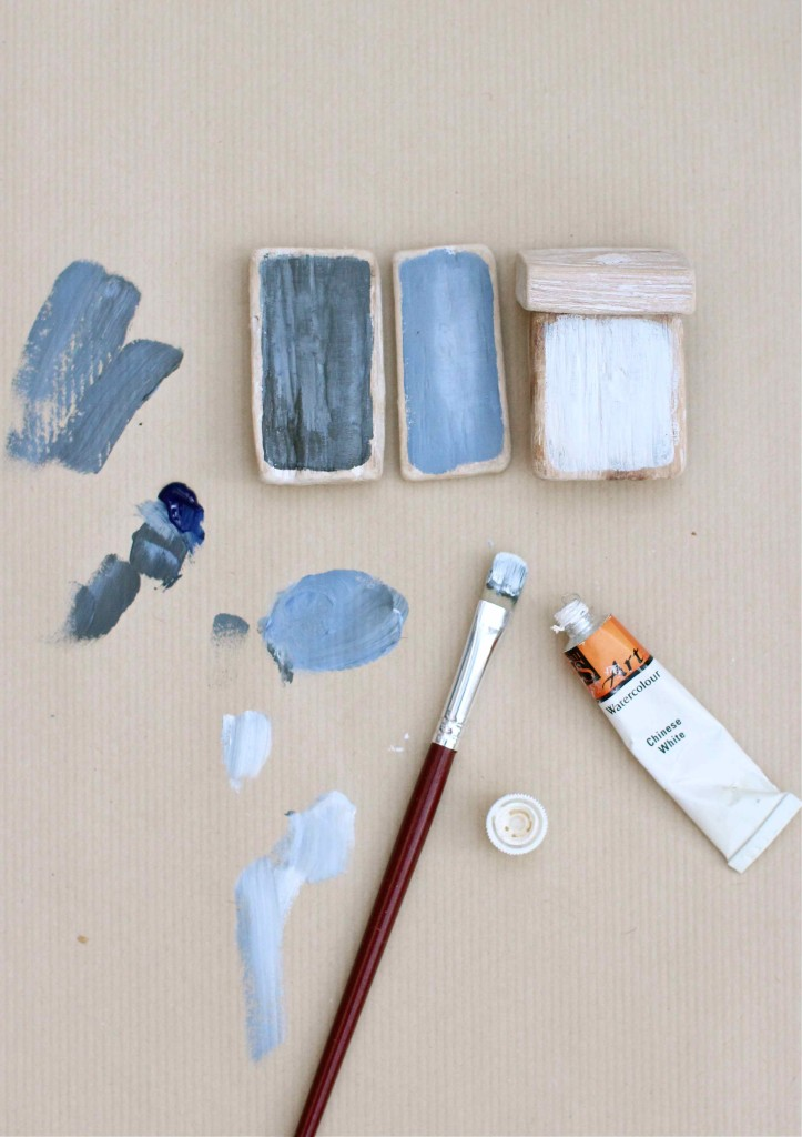 painting wood for driftwood boats
