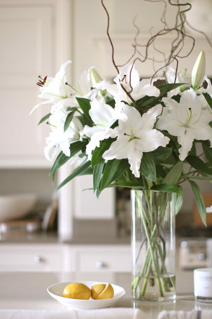 Lilies in the kitchen