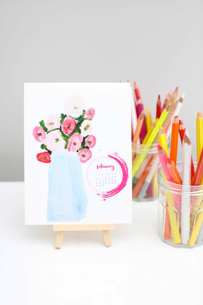 DIY Desk Calendar made from kids art