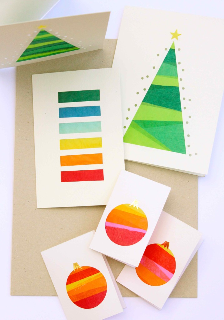 DIY Stained Glass tissue paper cards
