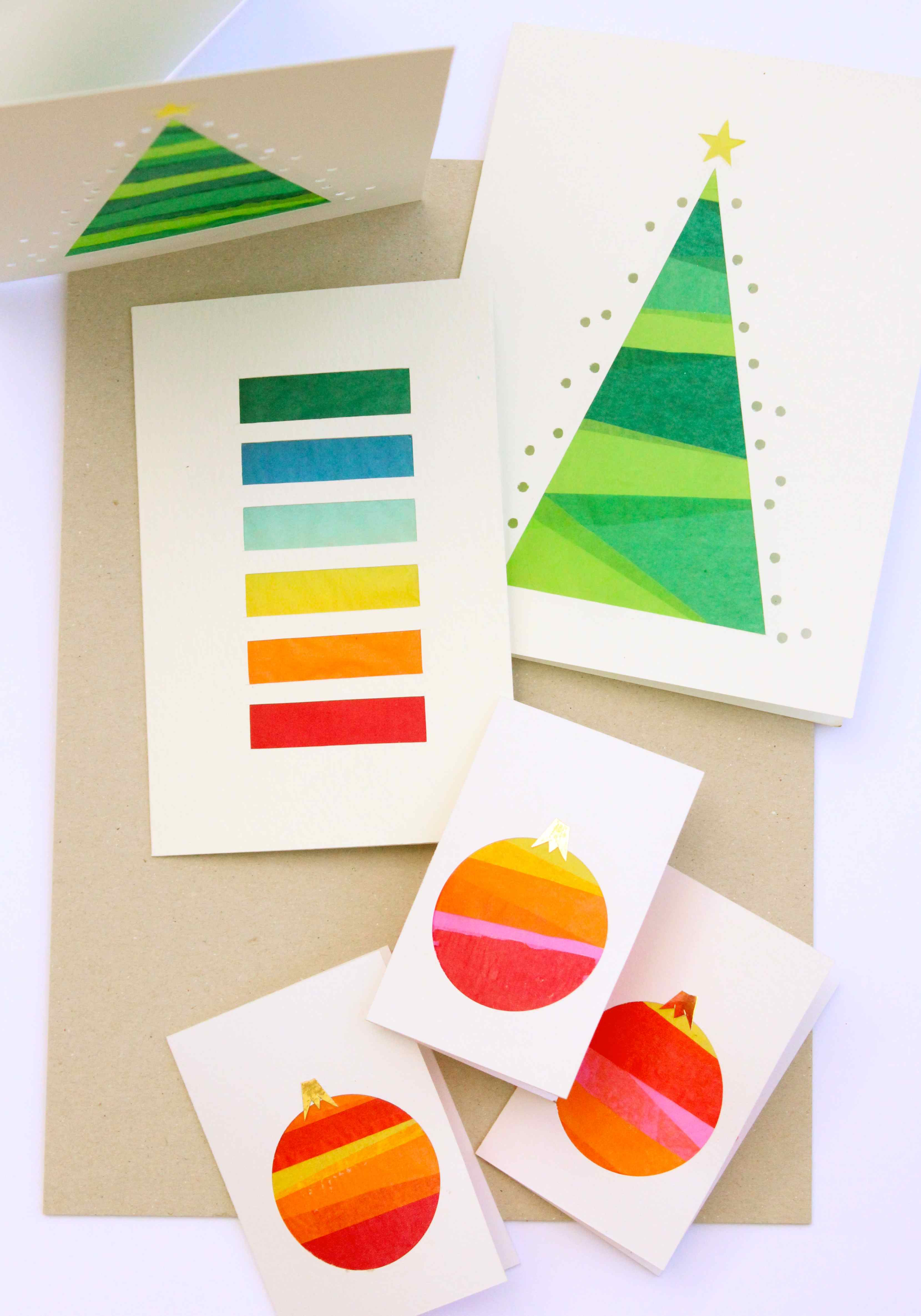 Festive stained glass luminary cards for Tissue paper for crafts