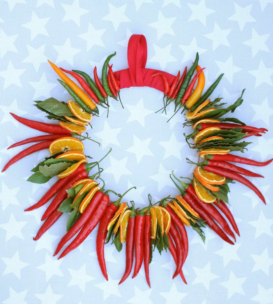 Chilli Orange and Bay Wreath