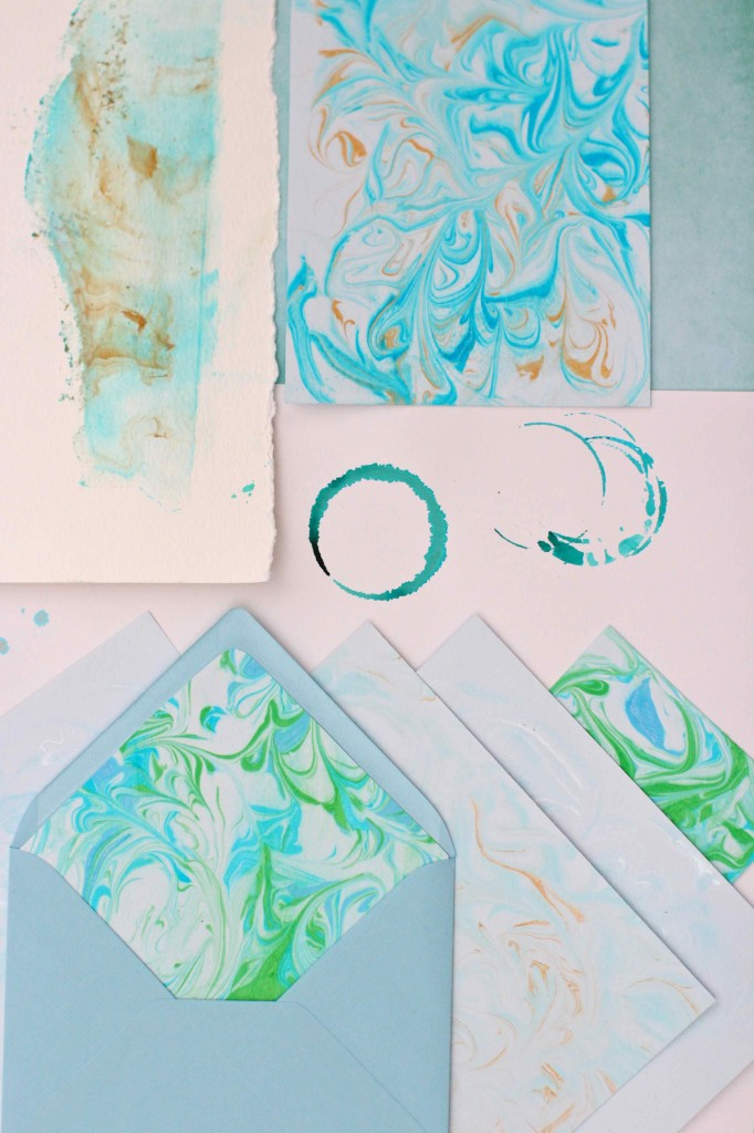 DIY Paper marbling with shaving foam