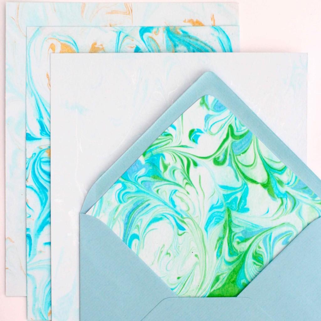 DIY Shaving Foam Paper Marbling