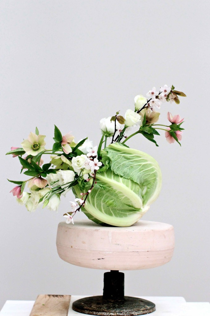 Colourful Spring Cauliflower Vase