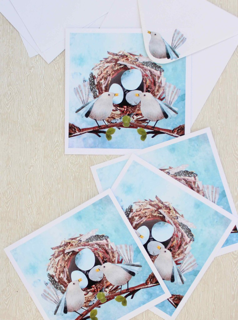 DIY Collage Easter cards