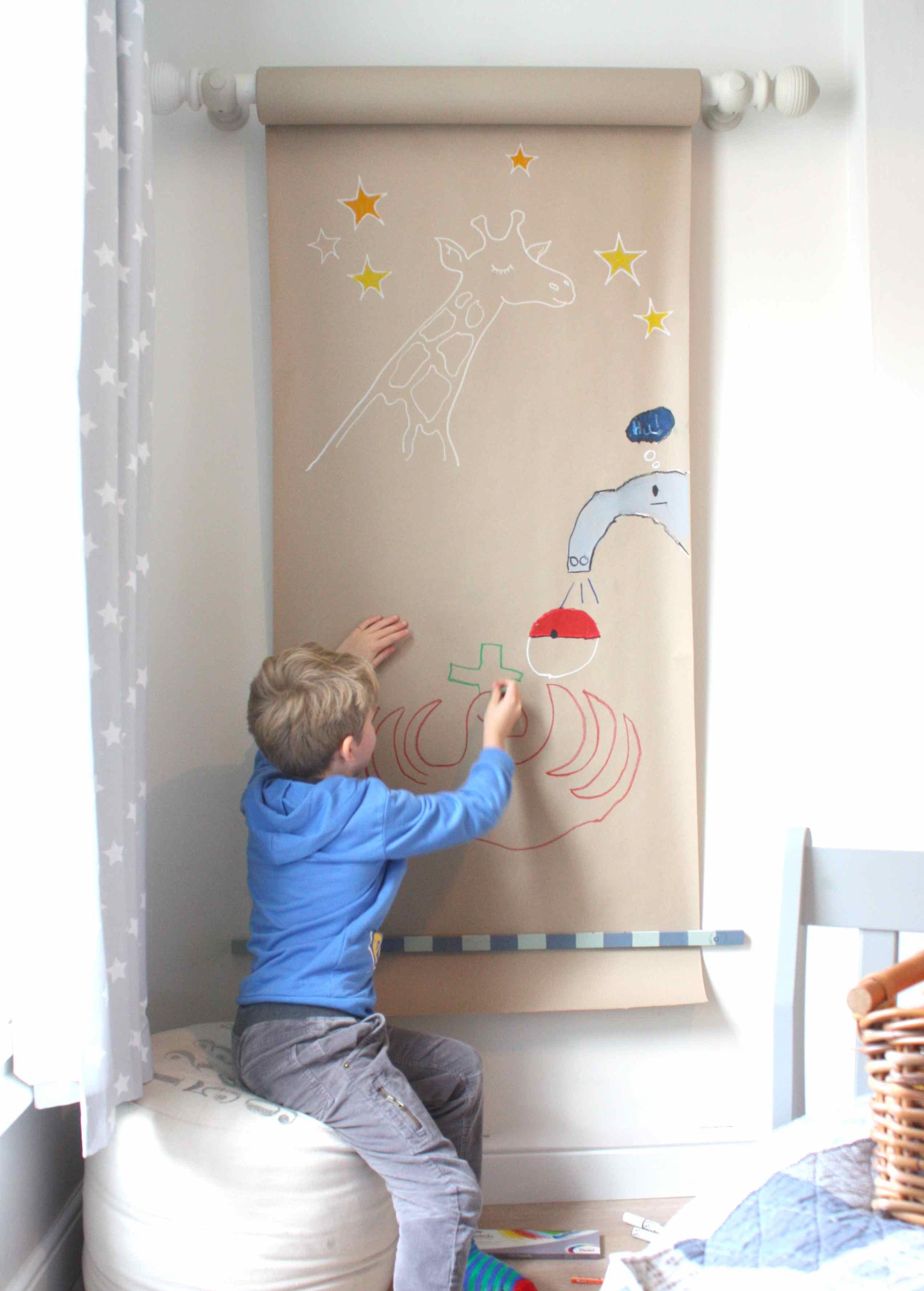 a drawing wall