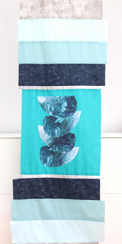 Making a scrap fabric table runner