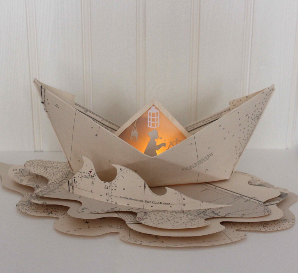 Paper boat luminary