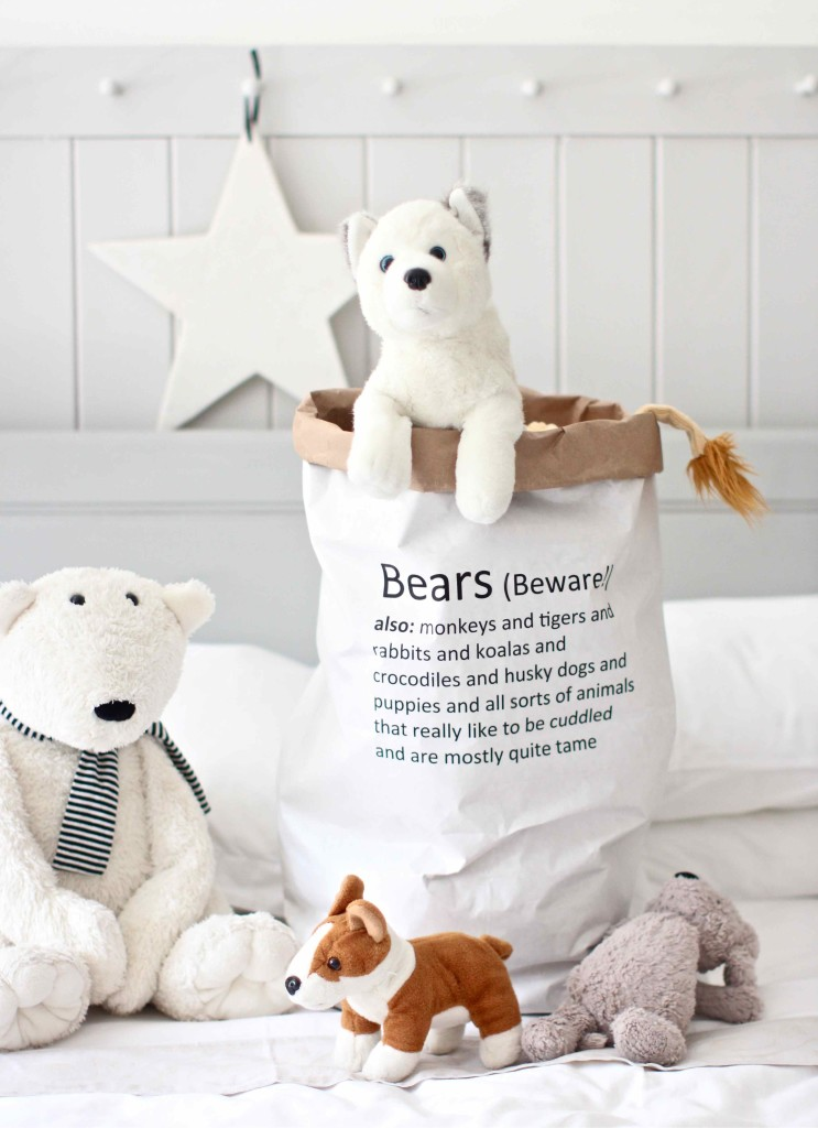 DIY Bear Bag (made from a paper sack)