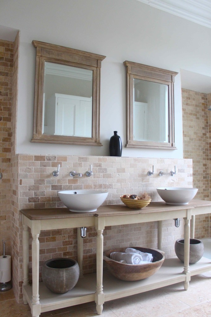 bathroom in muted shades