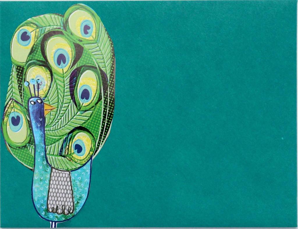 Altered Envelopes- peacock!