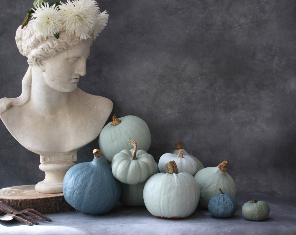 Painted tonal pumpkins