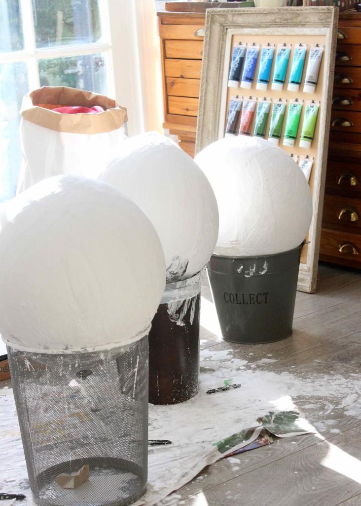 papier mache balloons