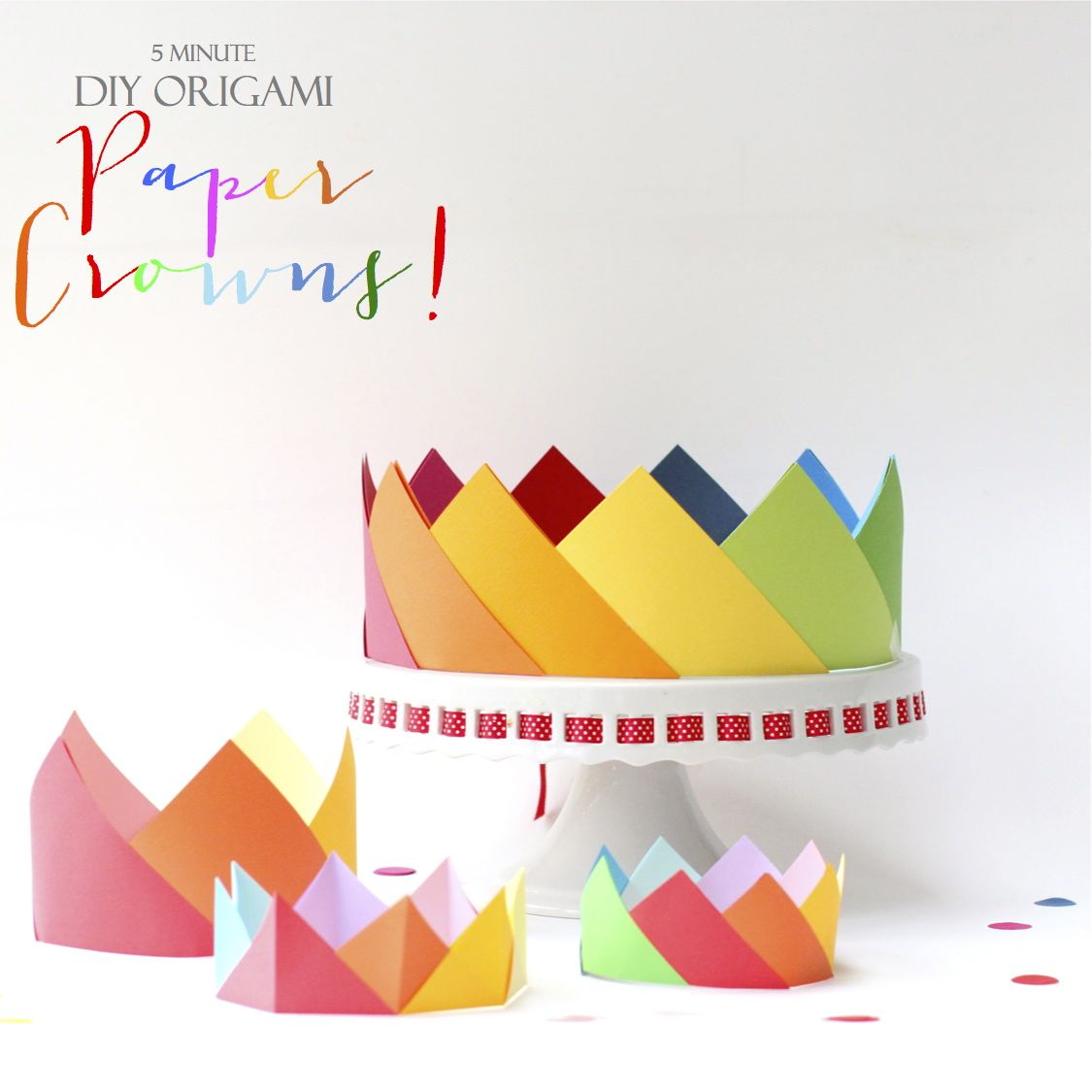 simple origami crowns